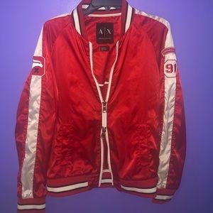 Armani Exchange red jacket